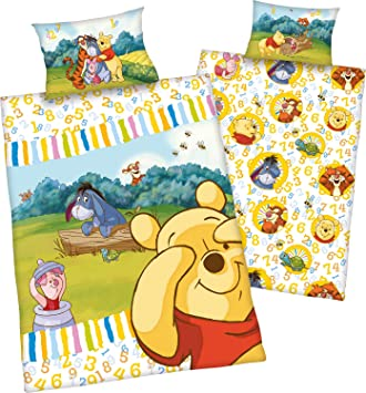 Disney Baby Bettwäsche Garnitur Winnie The Pooh Renforce Verschiedene  Motive (Winnie 123): Amazon.de: Baby Amazing Design