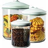 FoodSaver FSC003-I Pack de 3 bocaux pour appareil de mise sous vide 0,7 L / 1,42 L / 2,37 L Transparent