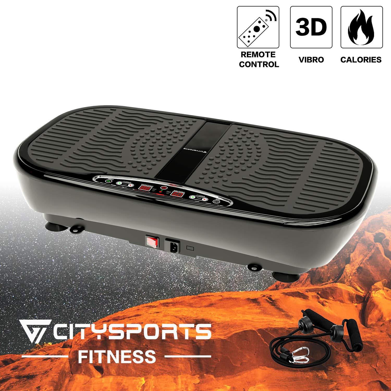 Citysports CS-500E PRO Vibrationsplatte, 3D Slim Vibrationsgerät, 4 Automodi, 1-60 Geschwindigkeiten