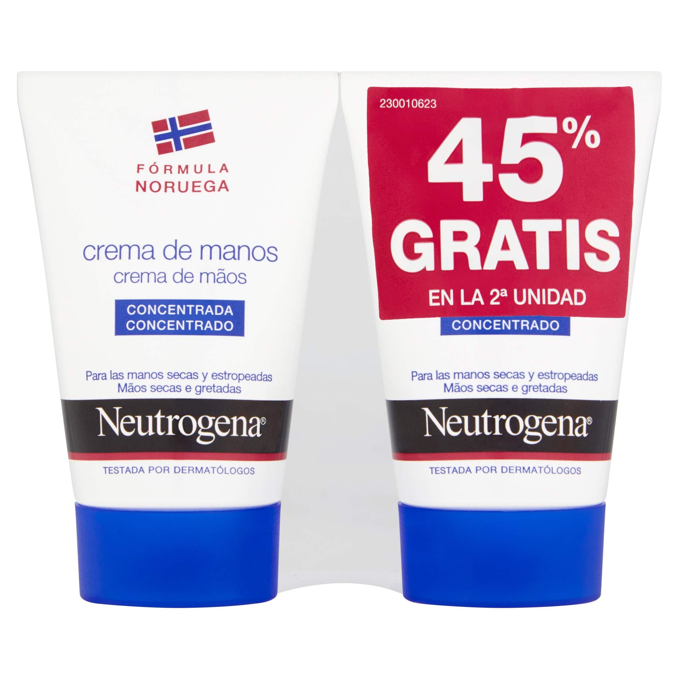 Neutrogena Cuidado Manos, Duplo crema de manos concentrada – 2 x 50 ml