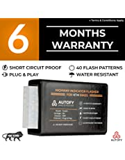 Autofy TOCSIN Plug & Play Highway Indicator Flasher For KTM Bikes With 6 Months Warranty - Indicator Blinker Hazard Flasher Module (40 Patterns)