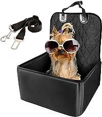 WZTO Coprisedili Auto Per Cani Proteggere Coprisedile Anteriore Singolo pieghevole & Impermeabile & Antiscivolo Animali Domestici Coprisedile Adatto Universale per SUV, Automobili - Nero
