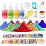 Ucradle Tie Dye Set for Kids - 36 Colours Tie Dye Kit Kids Permanent Fabric dye for Clothes Including All Accessories for Fas