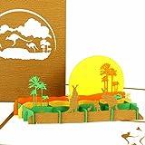 """Pop Up Karte""""Känguru & Outback Australia"""" - Pop Up Karte Australien - 3D Geburtstagskarte mit Kängurus, Reisegutschein, Pop-Up Einladungskarte und Gesdchenkverpackung Zoo"""