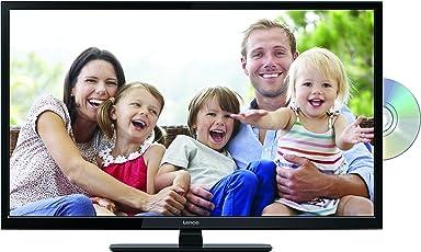 Lenco DVBT2 Fernseher DVL-2862BK 28 Zoll (70 cm) mit DVD-Player, und 12 Volt Kfz-Adapter, HD Ready, Schwarz