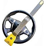 Stoplock HG 134-66 Airbag 4x4 Antivol Bloque-Volant de Voiture - Dispositif Antivol de Sécurité à Clés, Jaune/Gris