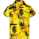 Camisa Hawaiana para Hombre Funky Casual Button Down Very Loud Manga Corta Unisex Surf