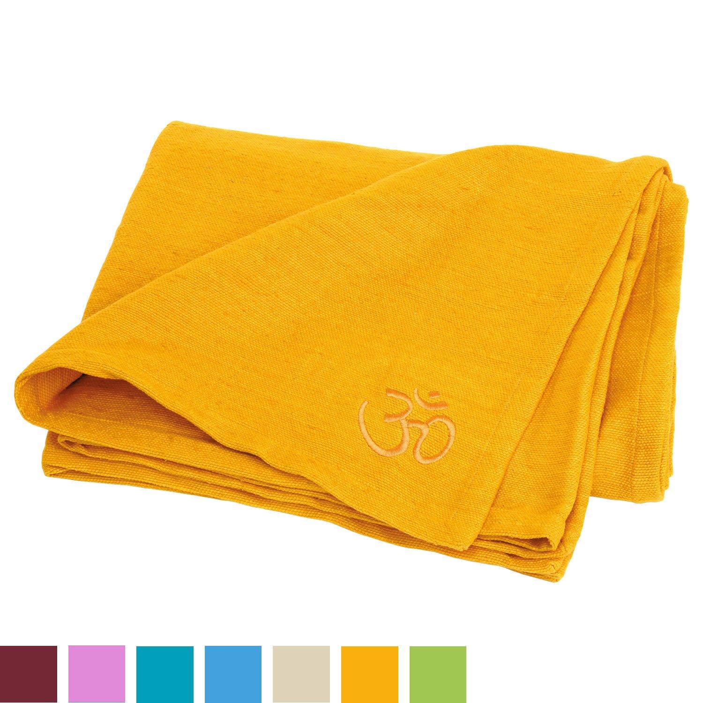 Disponible en diff/érentes Couleurs Lavable en Machine /à 30 /°C Bodhi Couverture SHAVASANA pour Le Yoga 150 x 200 cm 100/% Coton Robuste