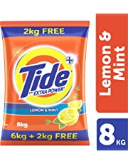 Tide Plus Extra Power Detergent Washing Powder - 6 kg + 2 kg Free = 8kg (Lemon and Mint)