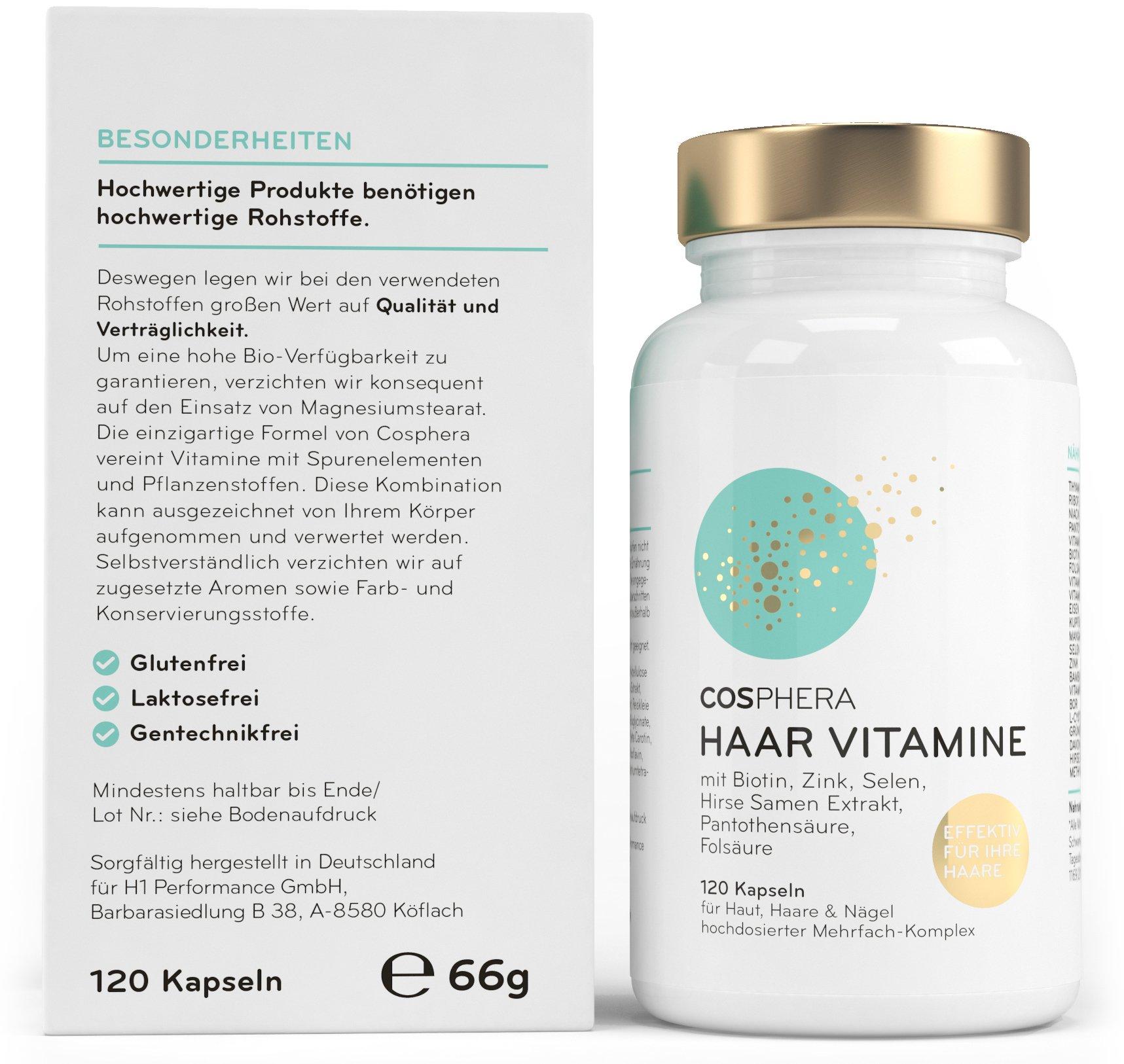 Cosphera Haar Vitamine Hochdosiert Mit Biotin Selen Zink
