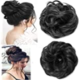 QKYPZO Set Of 2pcs Messy Hair Bun Synthetic Hair Bun Extension And Wigs Artificial Juda For Women And Girls, 35 Gram, Natural
