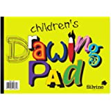 Silvine A4 Children's Value Drawing Pad. 20 sheets of 80gsm Bulky Drawing Paper (210 x 297mm)