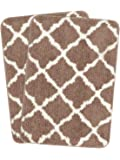Saral Home Soft Anti Slip Microfiber Bathmat Set of 2Pc -45x70 cm, Beige