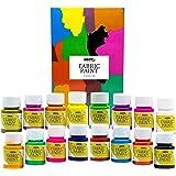 Pintura Textil Permanente y Lavable Nazca Colors – Set 16 Colores x 30ml – Pintura Acrílica para Tela ideal para Pintar Ropa,