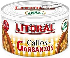 LITORAL Plato Preparado de Callos con Garbanzos, Sin Gluten, 380g