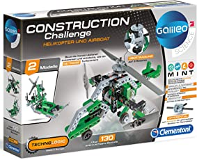 Unbekannt Galileo Experementierkasten Helikopter und Airboat 130 Bauteile • Mechanik Baukasten Construction Challenge Technologic