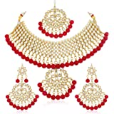 Sukkhi Glorious Kundan Gold Plated Choker Necklace Set for Women (N73542_D1)