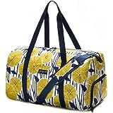 New Jadyn B Weekender Bag - 56 cm./ 52L - Sac polochon avec Poche à Chaussure (Yellow Flowers)