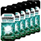 Listerine, Go! Tabs, Comprimidos Masticables Sin Azúcar, Boca Limpia y Fresca, Contra el Mal Aliento, Pack 6x8 comprimidos