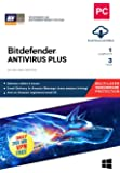 BitDefender Antivirus Plus Latest Version with Ransomware Protection (Windows) - 1 User, 3 Years (Email Delivery in 2…