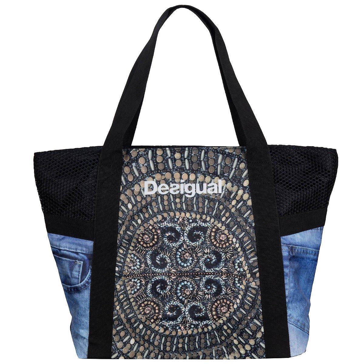 Desigual Bols L Shopping Bag Y Oro Viejo