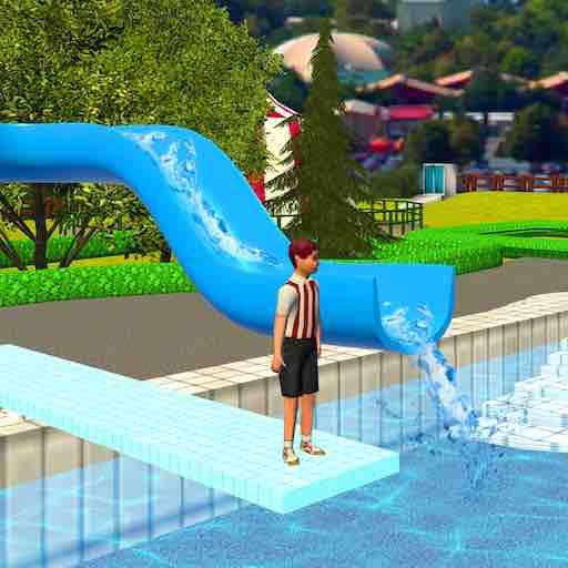 Extreme Water Park Slide: Bergauf Sommer-Sommerspiele für Kinder (Kinder Für Android-spiele)