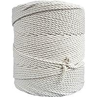 MB Cordas Corde Macramé 3mm 400 m - Cordon en Coton Naturel 3 Brins - Ficelle de Macramé, Crochet, Tricot - Sac à Main…