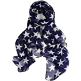 a5405babc925 DonDon ® femme motif étoiles et grand foulard doux