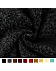 Encasa Homes Chenille Furnishing Fabric 140 cms - Plain Dyed Self Designs for Sofa Curtain Cushion