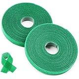 Plantenbinder klittenband groen/plantenhouder/softbinder/boom fixeerband,25 m plantenbinder van weerbestendig & verrottingsbe
