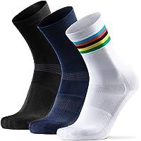 DANISH ENDURANCE Chaussettes pour Cyclisme Hautes pour Homme & Femme, Lot de 3, pour VVT, Vélo de Route, Cyclisme Urbain…