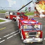 camión de bomberos que conduce el simulador de rescate de la ciudad 911