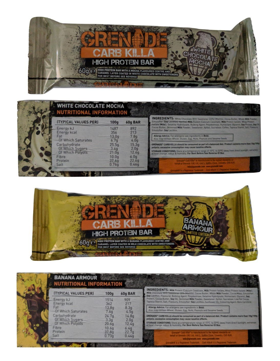 Grenade Carb Killa Protein Bars ALL 11 FLAVOURS 6