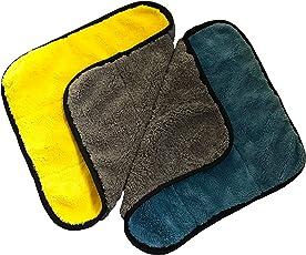 2X Savorm 30x30 Premium Auto Poliertuch Set - extra weich - Oberflächen schonend - Mikrofasertuch Putztuch Handtuch - Trockentuch Perfekt für Abtragen von Wasser Politur am Auto Lack hochwertiges Material Oberflächen schonend