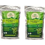 Organic India Tulsi Green Tea Classic, 100 Grams (Pack of 2)
