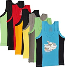 UCARE Boys' Cotton Vest (5008-Pack of 6)