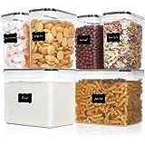 Vtopmart boîtes de Conservation Alimentaire sans BPA de Nourriture en Plastique avec Couvercle,Ensemble De 6 + 24 Étiquettes,