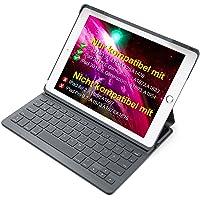 """Inateck Tastatur Hülle kompatibel mit 9.7"""" iPad 2018(6. Generation), iPad 2017(5.Generation) und iPad Air 1, Ultra Slim Keyboard Case in QWERTZ Layout, BK2003"""