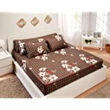 Utopia Textile Bed Sheet Set, 5 Pieces - Brown and Beige