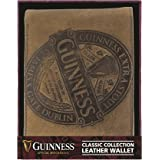 Guinness Brown Leather Wallet With Classic Collection Label Design