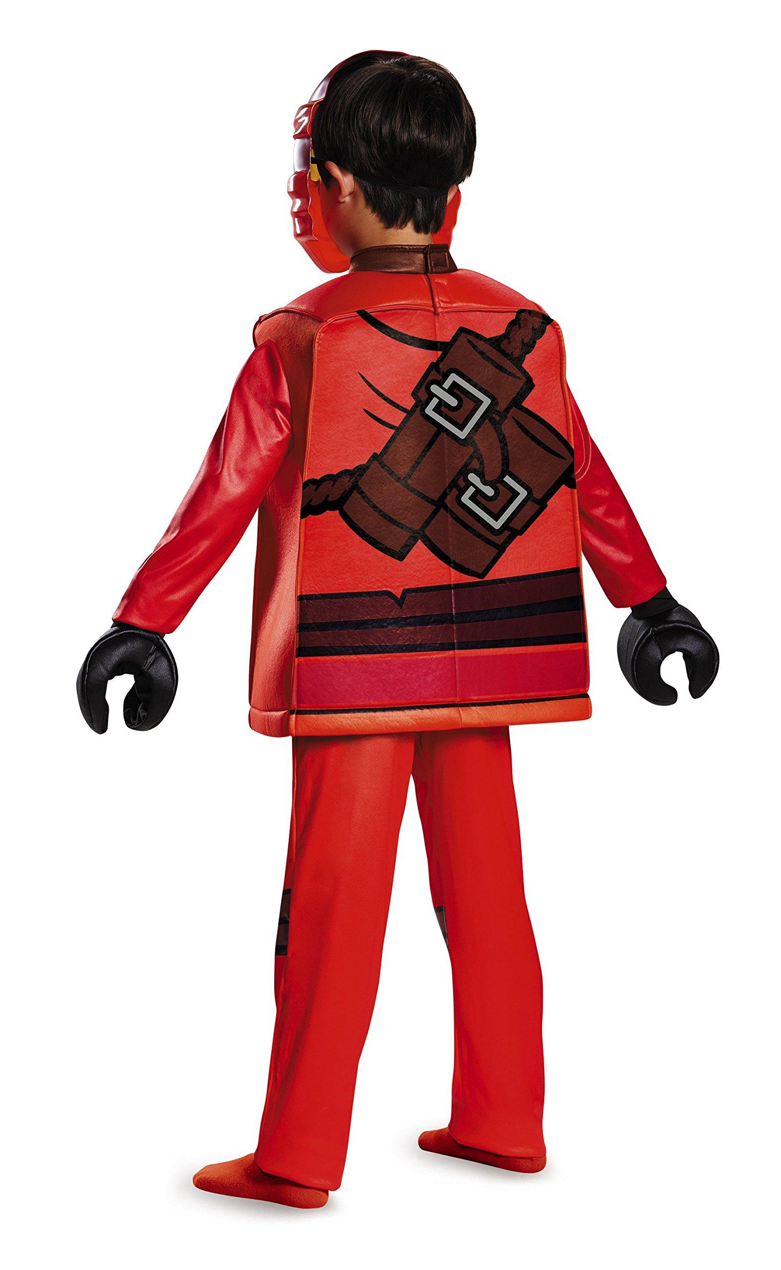 Lego Costume da Ninjago Kai, per Bambini, Taglia S, Gamma Deluxe, età 4–6Anni, Altezza ca. 120 cm -125 cm 2 spesavip