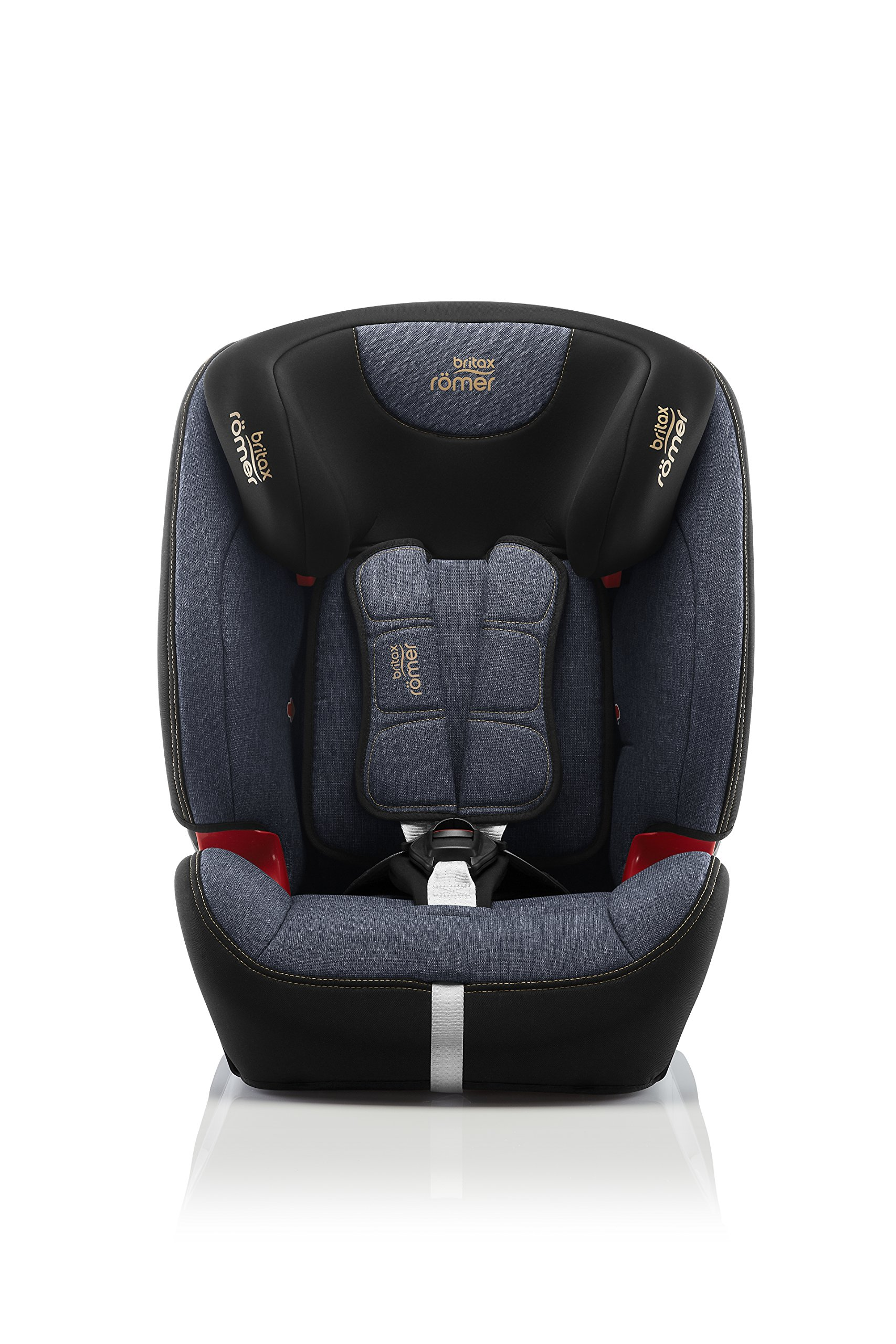 Britax Römer EVOLVA 1-2-3 SL SICT Group 1-2-3 (9-36kg) Car Seat - Blue Marble  This EVOLVA 1-2-3 SL SICT will come in a Blue Marble design cover which is made from a more premium fabric with extra detailing Enhanced Side Impact Protection (SICT) minimises the force of an impact in a side collision CLICK & SAFE audible harness system for that extra reassurance when securing your child in the seat 2