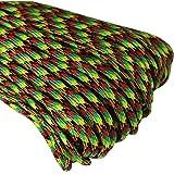 UOOOM Paracord Seil Schnüre Nylon Outdoor Seil 4mm Stärke 7 Strängen Nylonschnur Fallschirmschnur Mehrzweck-Seil 250kg (550lbs) Bruchfestigkeit/Erhältlich in vielen verschiedenen Länge und Farben