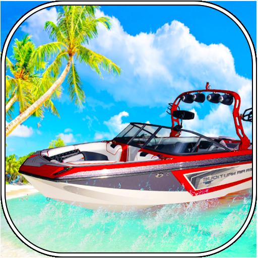 Beach Boat Racing und Wassertaxi Simulator 2017 3D