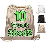 Katoenen tassen 1 stuks 38x42 cm sporttas - rugzak stoffen tas gymtas bag, buidel, katoenen tas, jutezak Oeko-Tex® gecertific