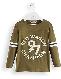 White, Mustard And Green Multicolore Label:12 Years RED WAGON Maglia a Maniche Lunghe Bambino 152 Pacco da 3 Marchio