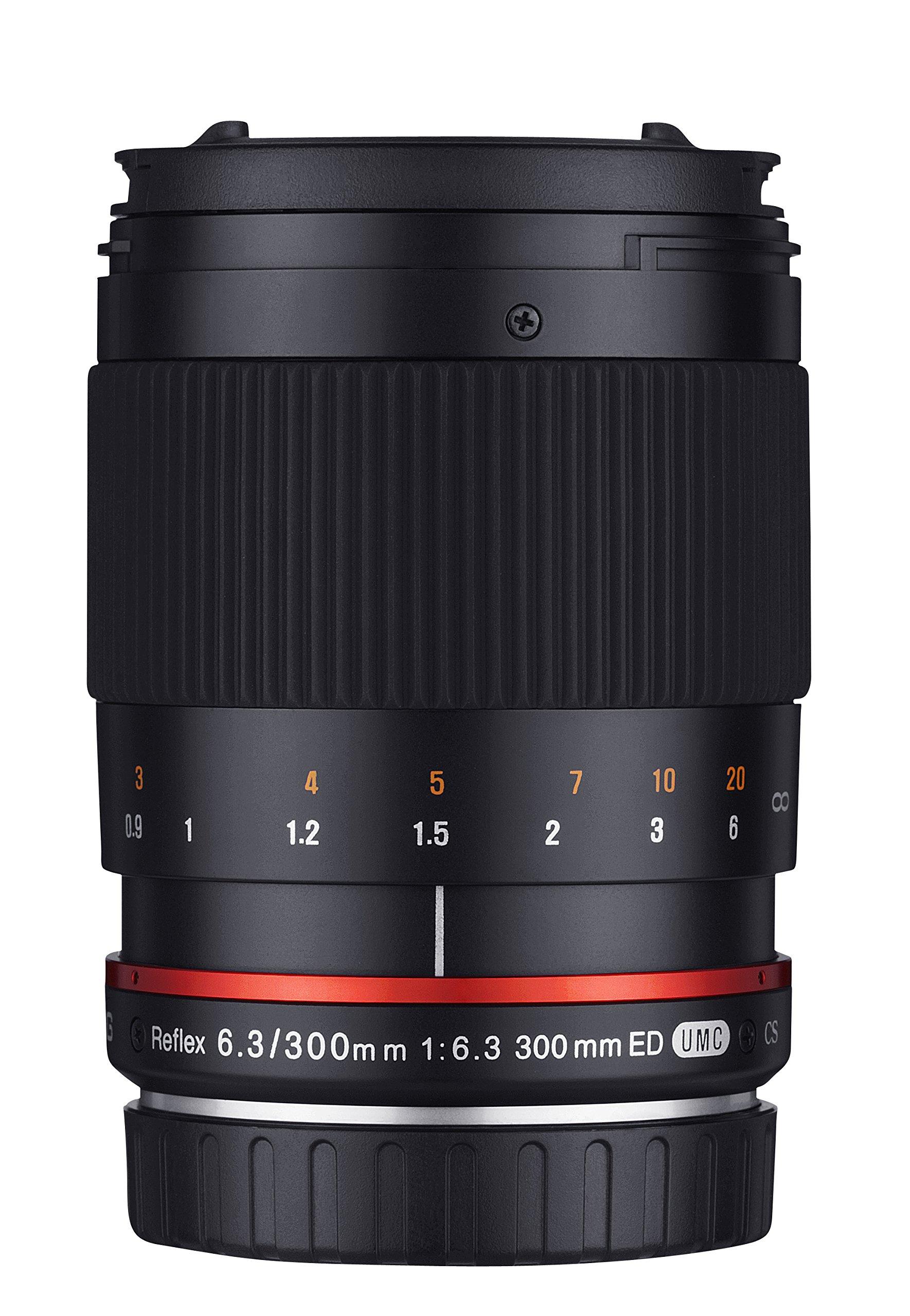 Samyang Obiettivo 300mm F 6,3 per Sony E, Nero