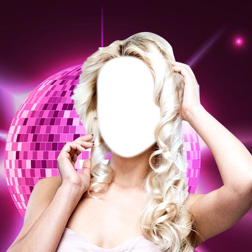 Party-Mädchen-Foto-Montage -
