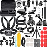 Neewer 58-i-1 actionkamera-tillbehörssats för GoPro Hero 7 6 5 4 3+ 3 2 1 Hero Session 5 svart AKASO EK7000 Apeman SJCAM DBPO