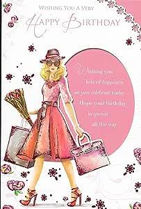 Carte Joyeux Anniversaire Femme